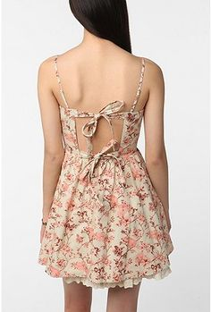 Betsey Johnson Pink Label Lace-Up Tea Party Dress