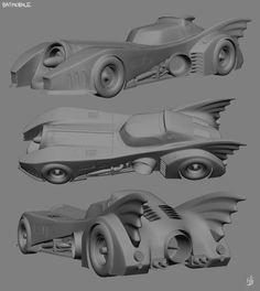batmobile tim burton   3D Model 4: The Tim Burton Batmobile by Hnser