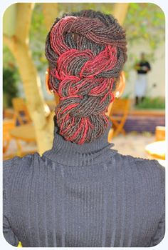 Loc Updo <3 |     I love how the red locs are twisted in this style, looks so beautiful ! | January 25, 2013