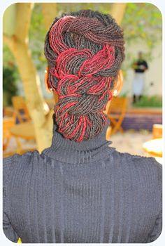 Red Sisterlocks style