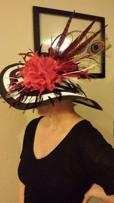 Derby Hat with Peacock feather