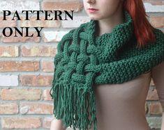Knit Woven Scarf Pattern.