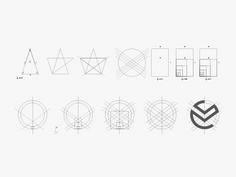 Golden ratio in brand mark Long Van Group  by Bratus ™