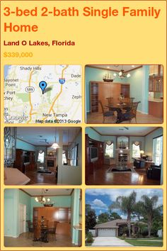 3-bed 2-bath Single Family Home in Land O Lakes, Florida ►$339,000 #PropertyForSale #RealEstate #Florida http://florida-magic.com/properties/2192-single-family-home-for-sale-in-land-o-lakes-florida-with-3-bedroom-2-bathroom