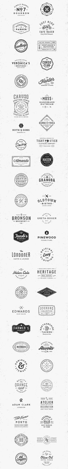 50 Vintage Logo Templates Bundle