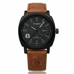 7d1d5490c42d Original Curren Business Quartz Watch Men Clock military Army Casual Wrist  watch leather fashion quality Male Relojes hombre