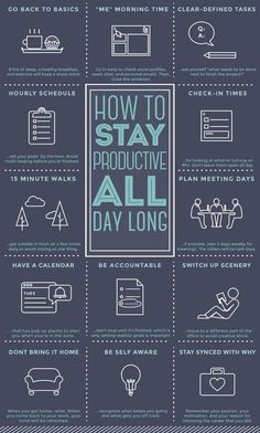 How To Stay Productive All Day - Productivity, Time Management, Motivation, & Goals Time Management Tips, Project Management, Business Management, Office Management, Change Management, Stress Management, Management Logo, Management Styles, Self Development