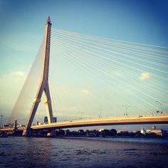 Leaving Bangkok #rama8 #architecture #suspensionbridge #travel #bangkok #ontheroadagain