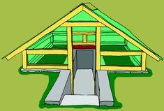 Outdoor Greenhouse, Greenhouse Ideas, Underground Shelter, Garden Design, Shed, Backyard, Greenhouses, Image, Vertical Gardens