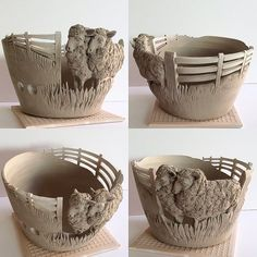 Sheep yarn bowl just made today. #yarn #yarnbowl #knit #knitting #wip #wool #clay #craft #crochet #creative #sheep #unfired #throwing #modelling #earthenware #earthwoolfire #madetoorder #commission #ceramic #ceramicart #ceramicartist #ceramicstudio