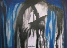 Maleri fattig mann kunst 50x70 cm