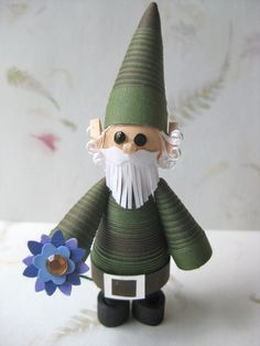 Miniature garden gnome or elf made from by fashionedforyouinnh