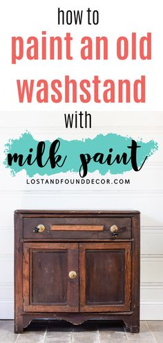 I think old washstands are my absolute favorite pieces to paint. I decided to give this piece a bold pop of color, so I chose MMS Tricycle Red Milk Paint. Follow along to get all my tips for working with red milk paint. #redpaintedfurniture #milkpain Red Painted Furniture, Milk Paint Furniture, White Washed Furniture, Repainting Furniture, Diy Furniture Projects, Furniture Makeover, Furniture Painting Techniques, Painting Tips, Flip Furniture For Profit