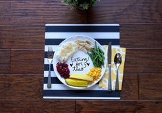 eating for two - thanksgiving pregnancy baby announcement