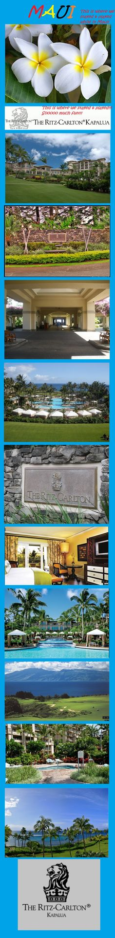 #Maui .... Ritz-Carlton - Kapalua !  Where we stayed and played while in Maui!   So much fun and a really beautiful resort.   Would def go back again!!!