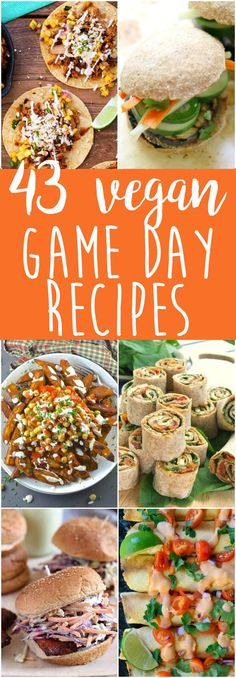 Vegan Game Day Food - from pizza to tacos to burgers to fries to nachos...get your game day appetizers / recipes here!  via @thecrunchychron