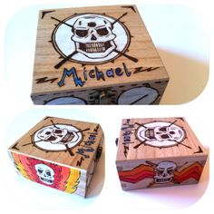 Bespoke wooden trinket box. 12cm squared. Please pop over to MidSummerLilys on Facebook and Etsy! X
