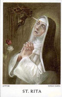 Sta Rita, Sainte Rita, St Rita Of Cascia, Novena Prayers, Holi, Christianity, Mona Lisa, Faith, Statue