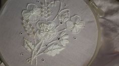 embroidery designs. White embroidery work. embroidery stitches tutorial. - YouTube