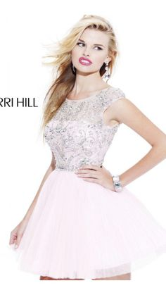 2014 White Sherri Hill 2814 Short Prom DressOutlet