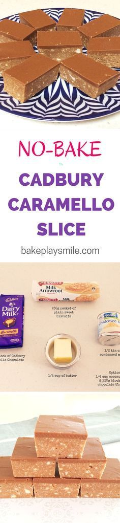 Caramello Slice This is the easiest slice I've ever made and it tastes so good! Caramello Slice is one of my favourite things to make. and it takes less than 10 minutes! Yummy Treats, Delicious Desserts, Sweet Treats, Yummy Food, Caramello Slice, No Bake Slices, Ma Baker, Baking Recipes, Dessert Recipes