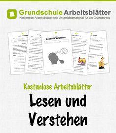 Kostenlose Arbeitsblätter und Unterrichtsmaterial für den Deutsch-Unterricht zum Thema Lesen und verstehen in der Grundschule.