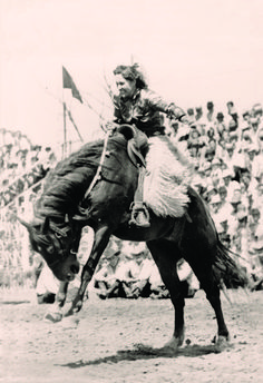 A group of pioneering female athletes rode roughstock events in the early 20th century before participation dwindled. What happened?