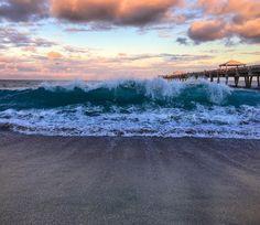 Clouds or Waves. Juno Beach Florida, Juno Beach Pier, Florida Beaches, Appreciation, Toms, Waves, Clouds, Mountains, Nature