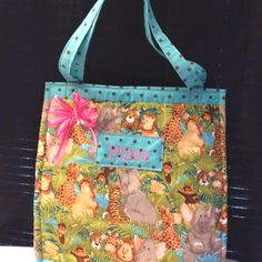 Zoo Animals Tote for my niece :)