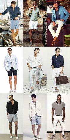 Men's Riviera Style - Trousers, Shorts & Swimwear Lookbook