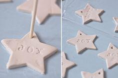 Christmas clay stars