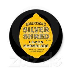 Vintage Lemon Marmalade Label Stickers from Zazzle.com