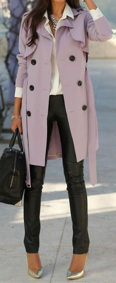 Lilac trench coat