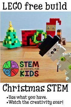 LEGO di natale - STEM activity for kids - LEGO free build for Christmas / winter! Lego Activities, Steam Activities, Lego For Kids, Stem For Kids, Stem Projects, Lego Projects, Christmas Activities For Kids, Winter Activities, Lego Christmas