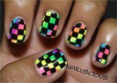 Checkered Rainbow by nailuscious - Nail Art Gallery nailartgallery.nailsmag.com by Nails Magazine www.nailsmag.com #nailart