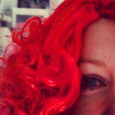Wearing my #comicrelief wig #snaphappybritmums