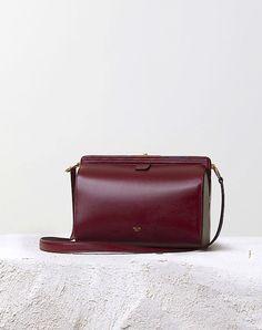 ALSO MINE. Céline Burgundy Mini Doc bag - Pre-Fall 14