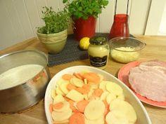 Edels Mat & Vin: Gratinert bayonneskinke og rotgrønnsaker i sennepsaus ! Frisk, Cantaloupe, Peach, Candy, Food, Essen, Peaches, Meals, Sweets