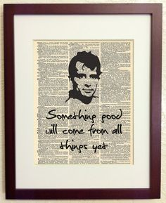 Jack Kerouac Quote - Something Good Will Come from All Things Yet - Art Print on Vintage Antique Dictionary Paper