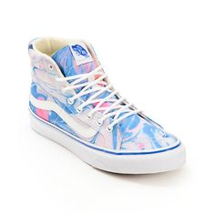 3de1a7d4ca7651 Vans SK8 Hi Slim Marble  amp  True White Womens Shoe