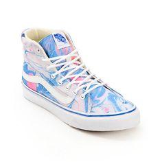 Vans SK8 Hi Slim Marble & True White Womens Shoe | #zumiez