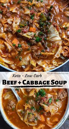 Beef Cabbage Soup, Cabbage Soup Recipes, Easy Soup Recipes, Dinner Recipes, Stuff Cabbage Soup, Cabbage Low Carb Recipes, Beef Broth Soup Recipes, Vegetable Soup Cabbage, Easy Homemade Soups