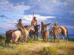 """Martin Grelle Artist Hand Signed and Numbered Limited Edition Canvas Giclee:""""When Wolves Speak"""" Native American Pictures, Native American Artists, Native American History, Native American Indians, Western Artists, Native Indian, Native Art, Indian Tribes, Westerns"""