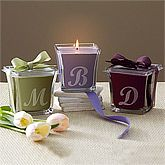 Monogram Scented Candles...cool gift