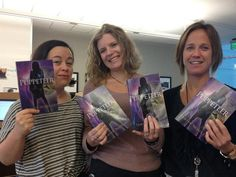 """From Tamsen Schultz's twitter feed, """"Thanks to some of my ladies, I'm holding my book for the first time The Puppeteer."""""""