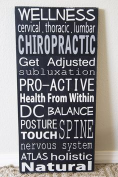 Occupation/Career Sign Solid Wood Chiropractic by WordWhipped
