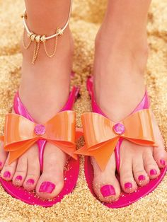 Shocking ... Not heels but perfect for the summer