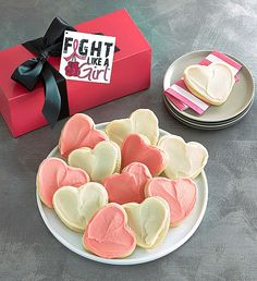 Fight Like a Girl Cookie Box   Giving Back   Cheryls.com   15% of Net Proceeds benefits Fight Like a Girl Club®, a global support organization for women fighting cancer and other life-altering illnesses.