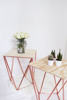 DIY: copper side tables