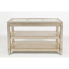 Casa Bella Vintage Silver Mirrored Top Sofa Table   Weekends Only Furniture and Mattress